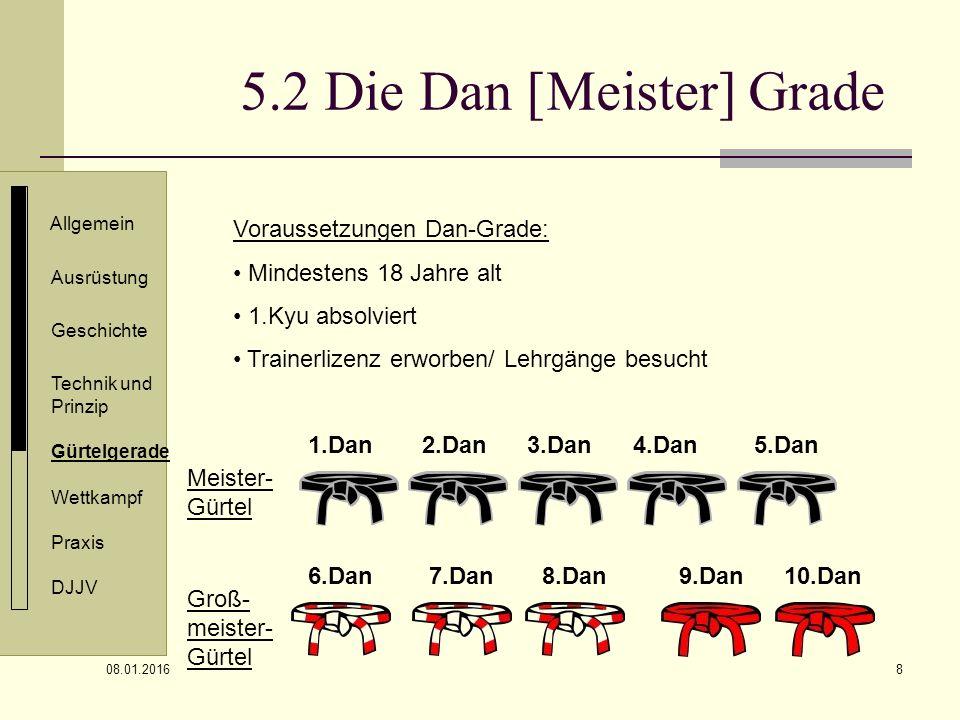 5.2 Die Dan [Meister] Grade